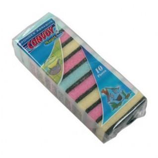 Schuurspons MINI kleur (10 stuks)