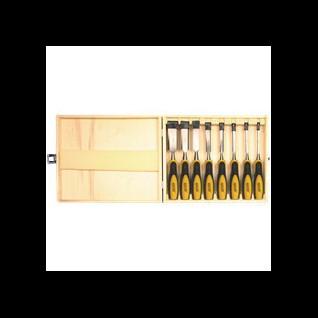 Houtbeitel set in solide houten koffer 2