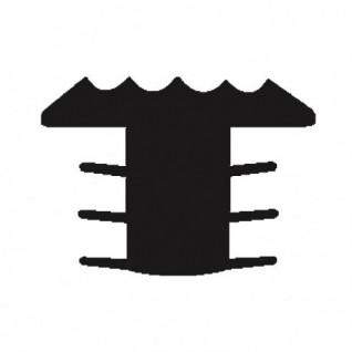 Trap antislip T-profiel/ trapneusprofiel zwart (infrezen)