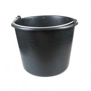 Zwarte bouwemmer 12 liter